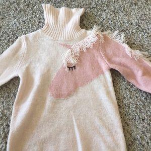 H&M turtleneck unicorn sweater